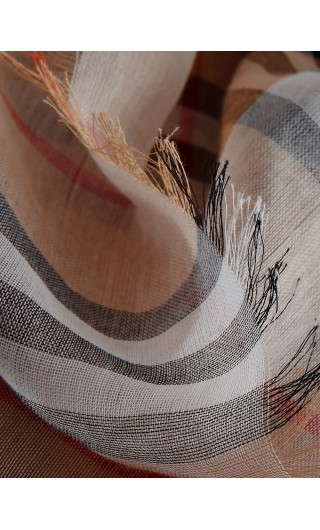 Foulard bicolore cotone Vintage chec