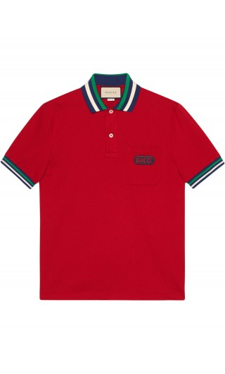 Polo mm c/patch Gucci