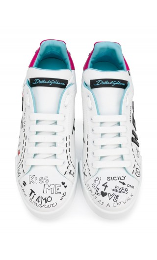 Sneakers vit.nappato + patch