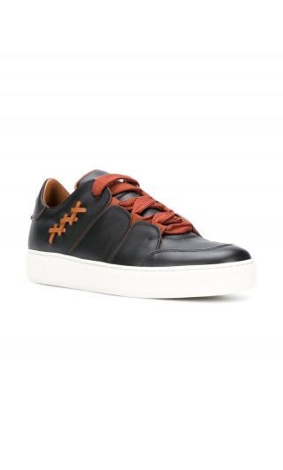 Sneakers basse Tiziano pelle liscia