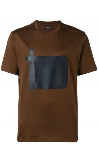 T-Shirt mm quadro similpelle avanti