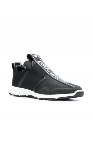 Sneakers tessuto tecnico + vitello sport