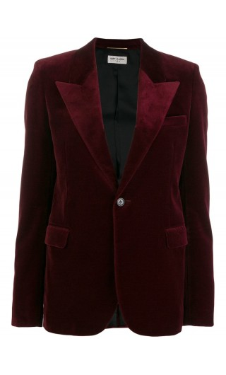 Giacca classica velluto burgundy