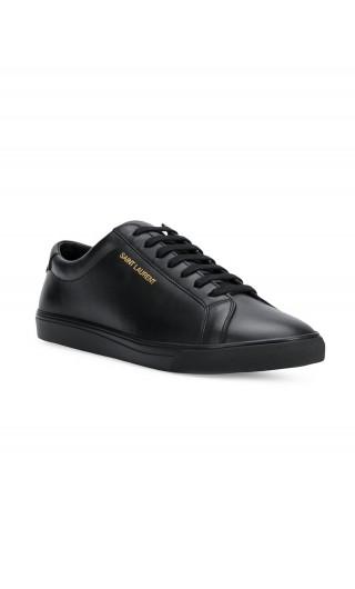 Sneakers pelle logo laterale