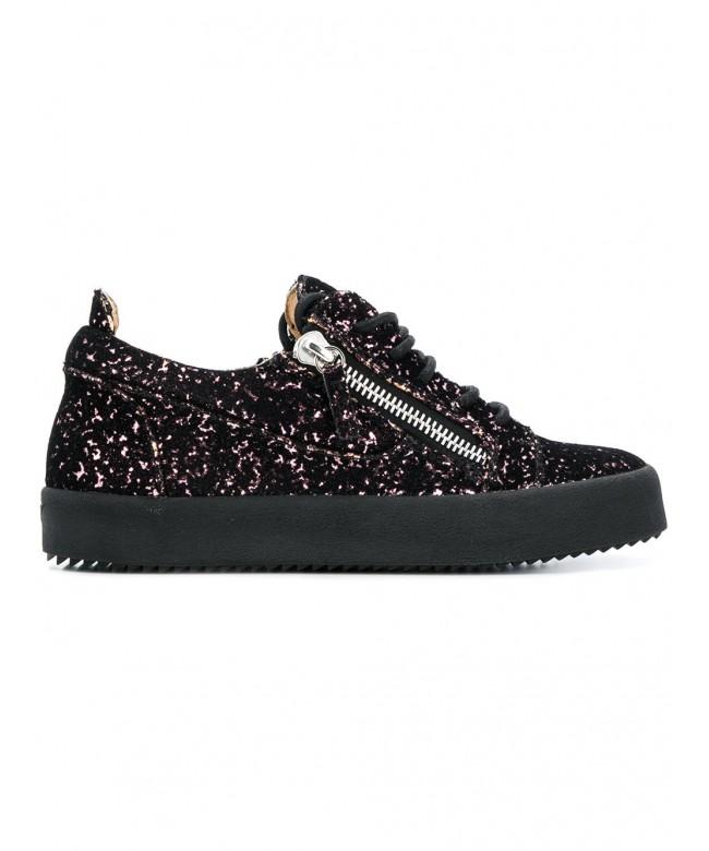 Sneakers allacciata + zip laterale