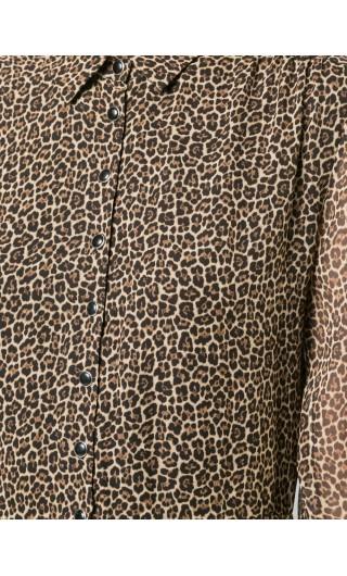 Abito georgette st.leopard