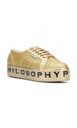 Sneakers zeppa logo