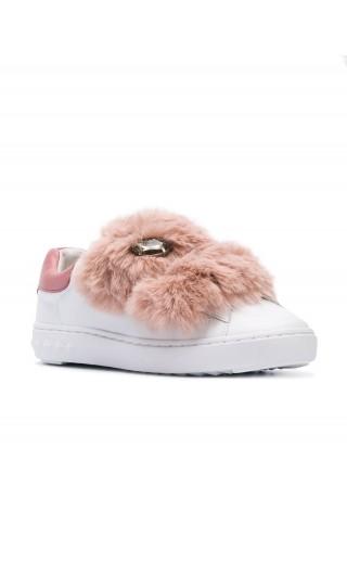 Sneakers doppio strap nappa calf