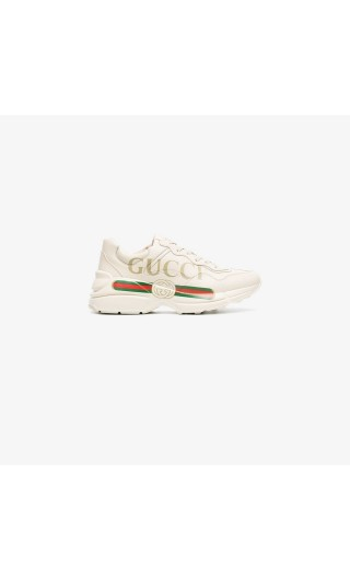 Sneaker Rhyton in pelle logo Gucci