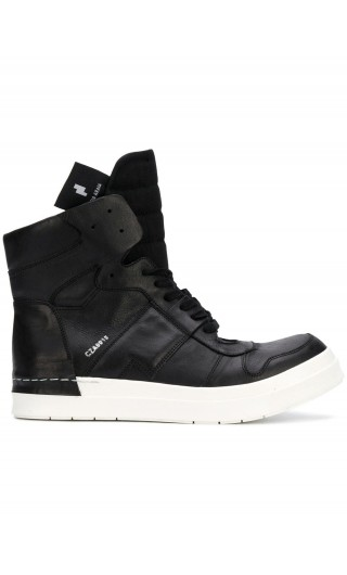 Sneakers alta allacciata + zip