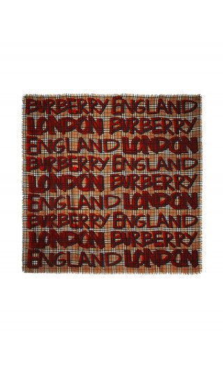 Foulard grande lana e seta st.graffiti