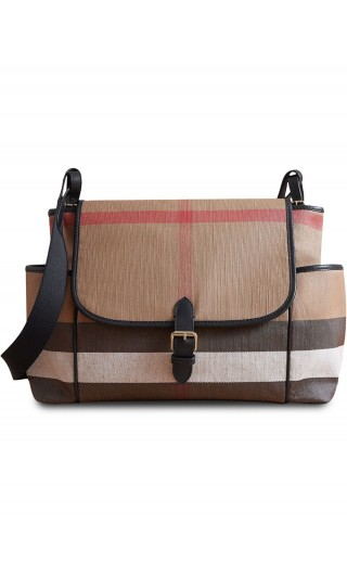 Borsa per cambio canvas check