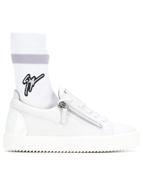 Sneaker low-top in pelle