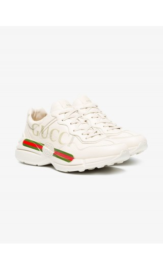 Sneaker Rhyton pelle logo Gucci
