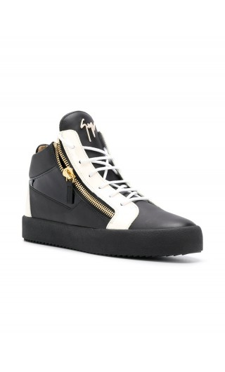 Sneaker mid-top in pelle