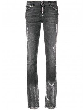 Jeans slim fit c/cerniera