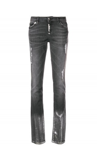 Jeans slim fit c/cerniera