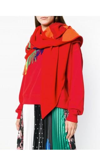 Bandana in lana e cashmere con logo