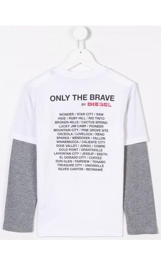 T-Shirt ml giro maniche bicolore Taltix
