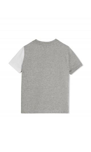 T-Shirt check text mixed