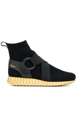 Sneakers alta suola ondulata