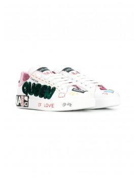 Sneakers classica nappa ricamo queen