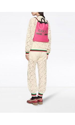 Zaino Gucci Print c/coulisse piccola