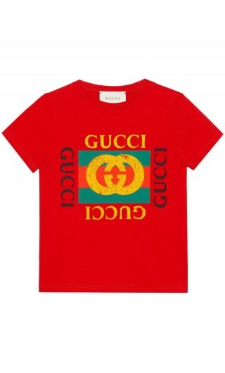 T-Shirt mm giro logo vintage Gucci