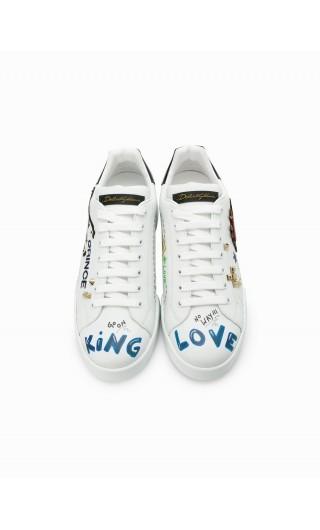 Sneakers bassa nappa st.+ ricamo