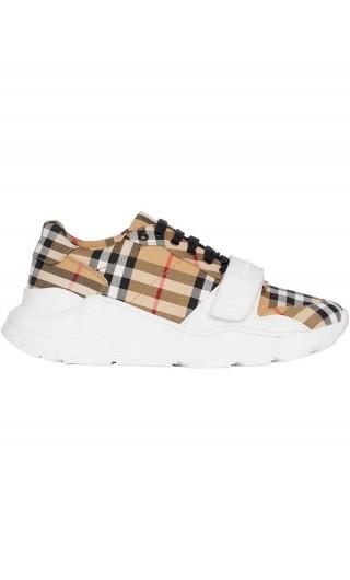Sneaker cotone motivo Vintage check