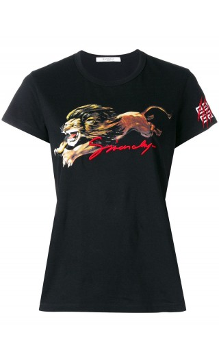 T-shirt aderente mm stampa Leone