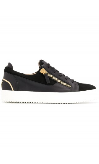 Sneakers allacciata + zip