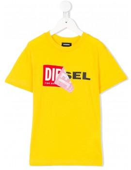 T-Shirt mm giro logo ripiegato